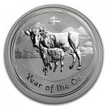1/2oz Silver Perth Mint Lunar  ox